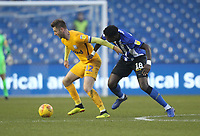 Preston North End's Paul Gallagher battles with  Sheffield Wednesday's Lucas Joao<br /> <br /> Photographer Mick Walker/CameraSport<br /> <br /> The EFL Sky Bet Championship - Sheffield Wednesday v Preston North End - Saturday 22nd December 2018 - Hillsborough - Sheffield<br /> <br /> World Copyright &copy; 2018 CameraSport. All rights reserved. 43 Linden Ave. Countesthorpe. Leicester. England. LE8 5PG - Tel: +44 (0) 116 277 4147 - admin@camerasport.com - www.camerasport.com