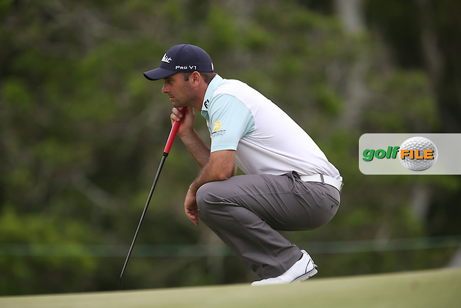 Ricardo Santos (POR) aligns his putt on the last during Round Two of the Africa Open 2015 at the East London Golf Club, East London, Eastern Cape, South Africa. Picture:  David Lloyd / www.golffile.ie. 06/03/2015
