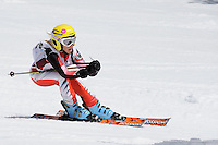 MT BULLER, AUSTRALIA, 29 August 2008 - Kathryn Parker competing in the Alpine event at the Victorian Interschools Snowsports Championships held at Mt Buller, Victoria on 29 August 2008. Photo by Sydney Low / AsteriskImages.com