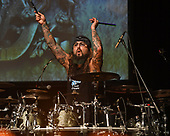 MIAMI, FL - FEBRUARY 09: Mike Portnoy of Sons Of Apollo performs during the Monsters Of Rock pre cruise concert at The Magic City Casino on February 9, 2018 in Miami, Florida. Credit Larry Marano © 2018