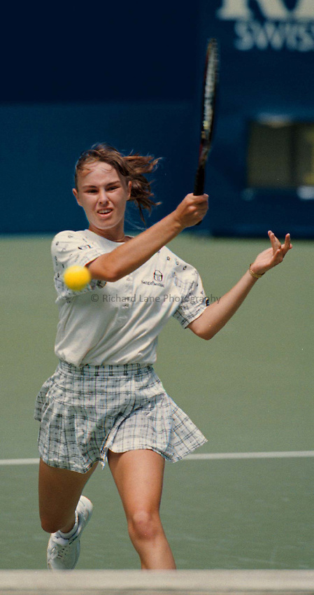 Photo. Abbey Wells.Austrailan Open, Melbourne, Austraila. 1996.Martina Hingis