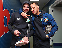 Blackburn Rovers' Elliott Bennett and Blackburn Rovers' Bradley Dack arrive at the ground<br /> <br /> Photographer Rachel Holborn/CameraSport<br /> <br /> The EFL Sky Bet League One - Blackburn Rovers v Shrewsbury Town - Saturday 13th January 2018 - Ewood Park - Blackburn<br /> <br /> World Copyright &copy; 2018 CameraSport. All rights reserved. 43 Linden Ave. Countesthorpe. Leicester. England. LE8 5PG - Tel: +44 (0) 116 277 4147 - admin@camerasport.com - www.camerasport.com