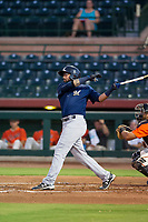 AZL Brewers third baseman Julian Jarrard (39) at bat against the AZL Giants on August 15, 2017 at Scottsdale Stadium in Scottsdale, Arizona. AZL Giants defeated the AZL Brewers 4-3. (Zachary Lucy/Four Seam Images)