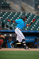 Miami Marlins Yoelvis Sanchez (87) at bat during an Instructional League game against the Washington Nationals on September 25, 2019 at Roger Dean Chevrolet Stadium in Jupiter, Florida.  (Mike Janes/Four Seam Images)