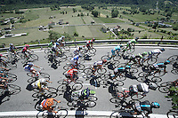 peloton up the only climb of the day (straight after the start): the Teglio climb (851m)<br /> <br /> stage 17: Tirano - Lugano (SUI) (134km)<br /> 2015 Giro d'Italia
