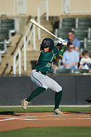Ji-Hwan Bae (51) of the Greensboro Grasshoppers at bat against the Rapidos de Kannapolis at Kannapolis Intimidators Stadium on June 14, 2019 in Kannapolis, North Carolina. The Grasshoppers defeated the Rapidos de Kannapolis 4-1. (Brian Westerholt/Four Seam Images)