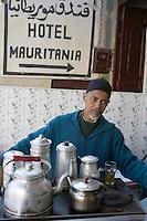 Afrique/Afrique du Nord/Maroc/Fèz: Médina de Fèz-El-Bali - Marchand de thé à la menthe à la médina de Fez