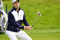 Justin Thomas (Team USA) on the 6th during the friday fourballs at the Ryder Cup, Le Golf National, Iles-de-France, France. 27/09/2018.<br /> Picture Fran Caffrey / Golffile.ie<br /> <br /> All photo usage must carry mandatory copyright credit (© Golffile | Fran Caffrey)