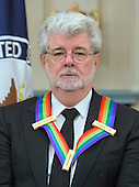 Filmmaker George Lucas, one of the five recipients of the 38th Annual Kennedy Center Honors, poses as part of a group photo following a dinner hosted by United States Secretary of State John F. Kerry in their honor at the U.S. Department of State in Washington, D.C. on Saturday, December 5, 2015.  The 2015 honorees are: singer-songwriter Carole King, filmmaker George Lucas, actress and singer Rita Moreno, conductor Seiji Ozawa, and actress and Broadway star Cicely Tyson.<br /> Credit: Ron Sachs / Pool via CNP
