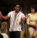 Blair Underwood & Nicole Ari Parker.during the Broadway Opening Night Curtain Call for 'A Streetcar Named Desire' on 4/22/2012 at the Broadhurst Theatre in New York City.