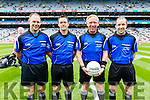 Officials before the  Kerry v  Galway in the All Ireland Minor Football Final in Croke Park on Sunday.