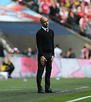 Manchester City manager Pep Guardiola <br /> <br /> Photographer Rob Newell/CameraSport<br /> <br /> The Emirates FA Cup Semi-Final - Arsenal v Manchester City - Sunday 23rd April 2017 - Wembley Stadium - London<br />  <br /> World Copyright &copy; 2017 CameraSport. All rights reserved. 43 Linden Ave. Countesthorpe. Leicester. England. LE8 5PG - Tel: +44 (0) 116 277 4147 - admin@camerasport.com - www.camerasport.com