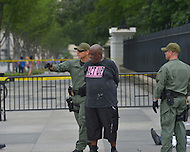 July 24, 2012  (Washington, DC)  13 protesters are arrested during an act of  civil disobedience in front of the White House. They seek to bring awareness to the HIV/Aids epidemic during the International AIDS Conference in Washington, D.C.    (Photo by Don Baxter/Media Images International)