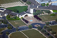 aerial photograph of the Mondavi Winery, Oakville, Napa Valley, California