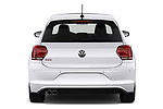 Straight rear view of a 2018 Volkswagen Polo GTI 5 Door Hatchback stock images