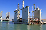 Floating dock Mar del Aneto, port area of Puerto de Santa de Maria, Cadiz province,, Spain