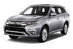 2019 Mitsubishi Outlander PHEV Instyle 5 Door SUV angular front stock photos of front three quarter view