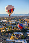 Balloons launch over downtown Carson City, Nev., on Saturday, Oct. 31, 2015. <br />