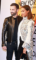 NEW YORK, NY October 26, 2017 Nicolas Ghesquiere, Alicia Vikander attend  Volez Voguez Voyagez x Louis Vuitton - Exhibition Preview at the Former America Stock Exchanging Build in New York October 26,  2017. Credit:RW/MediaPunch /NortePhoto.com