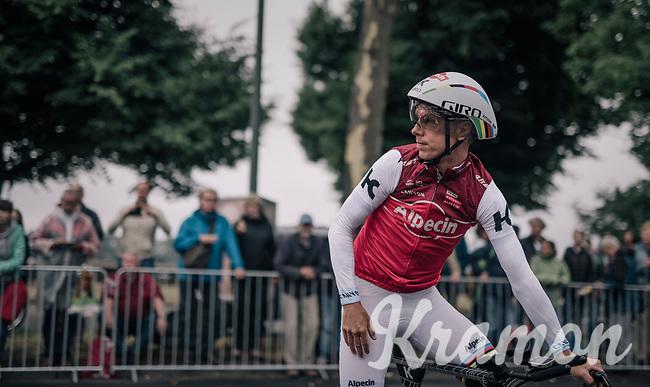 TT World Champion Tony Martin (DEU/Katusha) during course recon<br /> <br /> 104th Tour de France 2017<br /> Stage 1 (ITT) - D&uuml;sseldorf &rsaquo; D&uuml;sseldorf (14km)