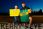 David Clifford gives Holly Mulvihill from Tarbert his Gaelic Football jersey.