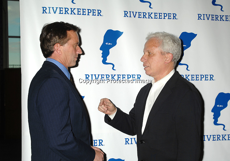 Robert F Kennedy, Jr and Mark Green..arriving at The Riverkeeper Gala honoring the Hearst Corporation on April 19, 2007 at Pier Sixty at Chelsea Piers. ..in New York City,..Robin Platzer, Twin Images
