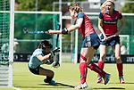 NIJMEGEN -   Mascha Heemskerk (Huizen) brengt de stand op 0-3 tijdens de tweede play-off wedstrijd dames, Nijmegen-Huizen, voor promotie naar de hoofdklasse..  COPYRIGHT KOEN SUYK