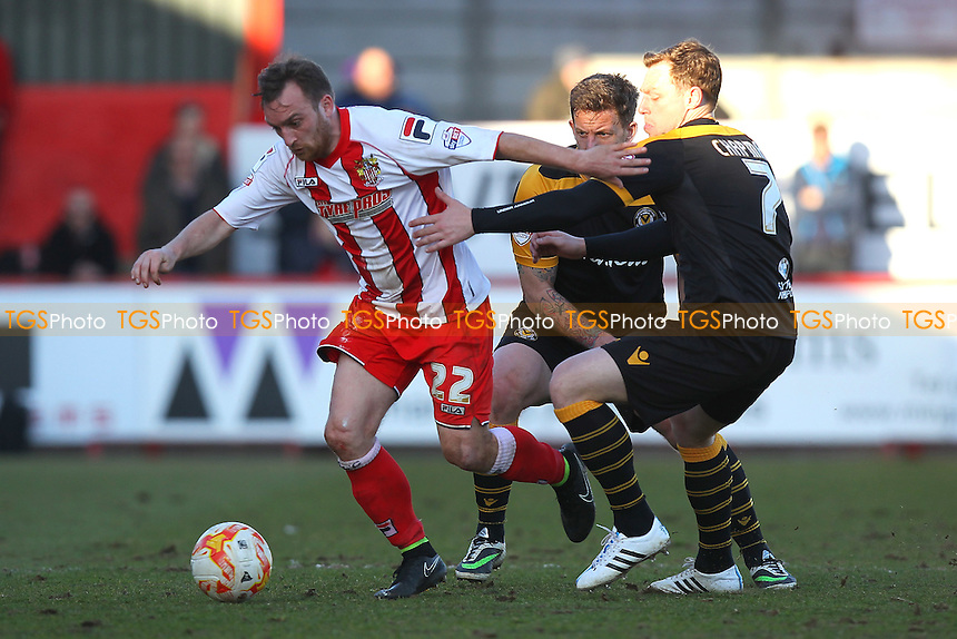 Charlie Lee in action for Stevenage - Stevenage vs Newport County - Sky Bet League Two Football at the Lamex Stadium, Broadhall Way, Stevenage - 07/03/15 - MANDATORY CREDIT: Gavin Ellis/TGSPHOTO - Self billing applies where appropriate - contact@tgsphoto.co.uk - NO UNPAID USE
