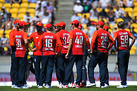 The England team. Twenty20 International cricket match between NZ Black Caps and England at Westpac Stadium in Wellington, New Zealand on Sunday, 3 November 2019. Photo: Dave Lintott / lintottphoto.co.nz