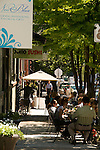 People dining outside, Pearl District, Portland, Oregon