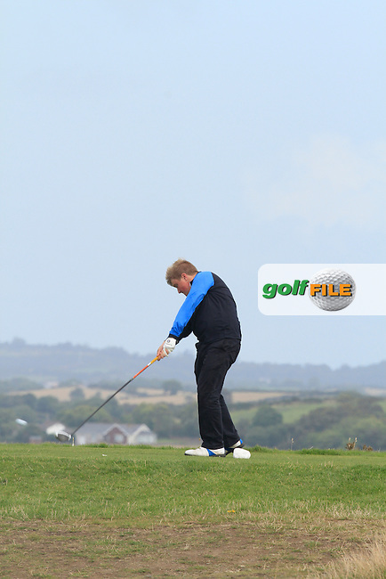 James McVicker (Knock) on the 3rd tee during Round 2 of the Irish Youths Amateur Close Championship in Ardglass Golf Club on Thursday 28th August 2014.<br /> Picture:  Thos Caffrey / www.golffile.ie