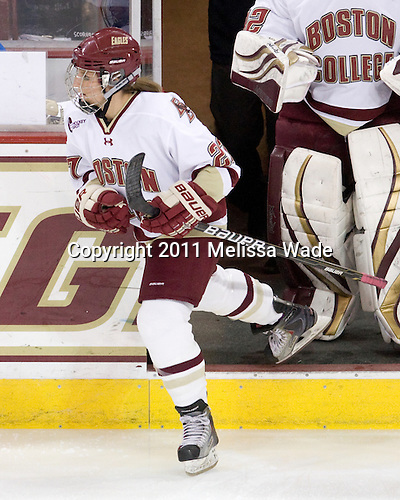 Laura Hart (BC - 27) - The Boston College Eagles defeated the Harvard University Crimson 3-1 to win the 2011 Beanpot championship on Tuesday, February 15, 2011, at Conte Forum in Chestnut Hill, Massachusetts.