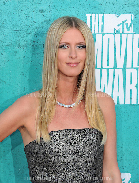 Nicky Hilton at the 2012 MTV Movie Awards at Universal Studios, Hollywood..June 4, 2012  Los Angeles, CA.Picture: Paul Smith / Featureflash