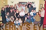Birthday: Having a great night at his 21st birthday in The Greyhound Bar, Tralee, on Saturday night was Chris OSullivan of Cahermoneen (seated fourth from left), along with family and friends..