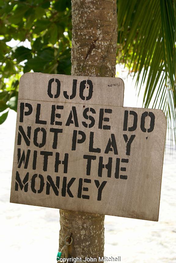 Funny sign, Big Corn Island, Nicaragua