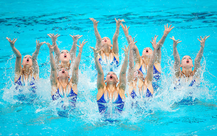 Picture by Alex Whitehead/SWpix.com - 31/07/2015 - Synchronised Swimming - 16th FINA World Swimming Championships 2015 - Kazan Arena Stadium, Kazan, Russia - Russia win the Team Free Final.