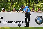 Soren Hansen tees off on the 12th tee during Round 2 of the BMW PGA Championship at  Wentworth, Surrey, England...Photo Golffile/Eoin Clarke.(Photo credit should read Eoin Clarke www.golffile.ie)....This Picture has been sent you under the condtions enclosed by:.Newsfile Ltd..The Studio,.Millmount Abbey,.Drogheda,.Co Meath..Ireland..Tel: +353(0)41-9871240.Fax: +353(0)41-9871260.GSM: +353(0)86-2500958.email: pictures@newsfile.ie.www.newsfile.ie.