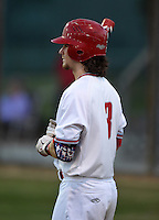 Lake Mary Rams shortstop Brendan Rodgers (3) during a game against the Lake Brantley Patriots on April 2, 2015 at Allen Tuttle Field in Lake Mary, Florida.  Lake Brantley defeated Lake Mary 10-5.  (Mike Janes/Four Seam Images)