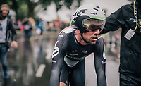Mark Cavendish  (GBR/Dimension Data) after finishing his wet TT<br /> <br /> 104th Tour de France 2017<br /> Stage 1 (ITT) - D&uuml;sseldorf &rsaquo; D&uuml;sseldorf (14km)
