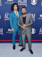 LAS VEGAS, CA - APRIL 07: Dan Smyers and Shay Mooney of Dan + Shay attend the 54th Academy Of Country Music Awards at MGM Grand Hotel &amp; Casino on April 07, 2019 in Las Vegas, Nevada.<br /> CAP/ROT/TM<br /> &copy;TM/ROT/Capital Pictures