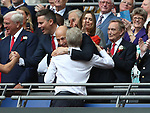 Arsene Wenger manager of Arsenal hugged by Arsenal chief executive Ivan Gazidis during the Emirates FA Cup Final match at Wembley Stadium, London. Picture date: May 27th, 2017.Picture credit should read: David Klein/Sportimage