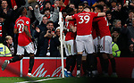 Manchester United's Marcus Rashord celebrates with teammates after scoring during the Premier League match at Old Trafford, Manchester. Picture date: 4th December 2019. Picture credit should read: Darren Staples/Sportimage