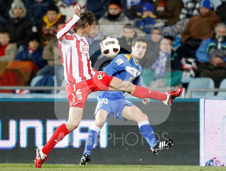 Getafe's Ivan Marcano during La Liga Match. March 02, 2011. (ALTERPHOTOS/Alvaro Hernandez)