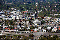 aerial photograph Walnut Creek, Contra Costa County, California