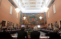 Una veduta dei lavori Consiglio Nazionale Elettivo del Coni che ha nominato Giovanni Malago' nuovo presidente, a Roma, 19 febbraio 2013..A view of the Coni's national elective council which elected Giovanni Malago' as new president, in Rome, 19 February 2013..UPDATE IMAGES PRESS/Riccardo De Luca