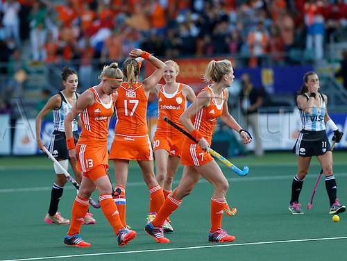 12.06.2014. The hague, Netherlands.  Maartje Paumen - Netherlands versus Argentina, semi-final Womens  Rabobank Hockey World Cup 2014. The game ended 4-0 with Netherlands making the final