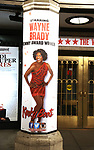 "Theatre Marquee for Wayne Brady's return to ""Kinky Boots"" on Broadway also starring Jake Shears of the Scissor Sisters and Kristin Maldonado of Pentatonix on March 5, 2018 at the Hirschfeld Theatre in New York City."