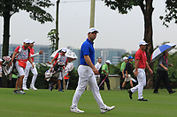 Paul Casey (Europe) on the 16th fairway during the Friday Foursomes of the Eurasia Cup at Glenmarie Golf and Country Club on the 12th January 2018.<br /> Picture:  Thos Caffrey / www.golffile.ie