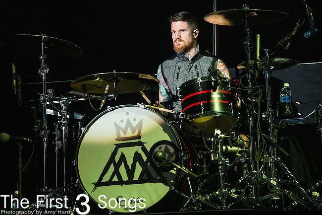 Andy Hurley of Fall Out Boy performs at the 2014 Bunbury Music Festival in Cincinnati, Ohio