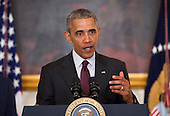 United States President Barack Obama delivers remarks at the Easter Prayer Breakfast at the White House in Washington, D.C. on March 30, 2016. <br /> Credit: Kevin Dietsch / Pool via CNP